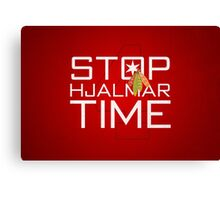 Stop, Hjalmar Time Canvas Print