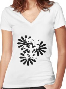 Precious design of coqui taino funny nerd geek geeky Women's Fitted V-Neck T-Shirt