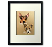Winnie & Belle the adorable JRTs Framed Print