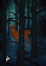 Winter Wood at Night by Sybille Sterk