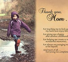 Thanks for the Happy Childhood (Mother's Day Card) by Tracy Friesen