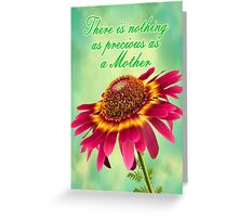 A Mother`s Flower Greeting Card