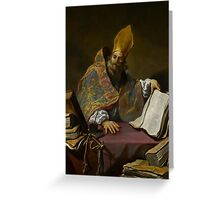 St. Ambrose, c.1623-25  Greeting Card