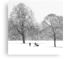 Silhouettes in the Snow Metal Print