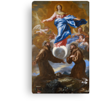 The Immaculate Conception with Saints Francis of Assisi and Anthony of Padua, 1650 Canvas Print