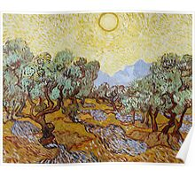 Olive Trees, 1889 Poster