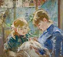 The Artist's Daughter, Julie, with her Nanny, c.1884 by Bridgeman Art Library