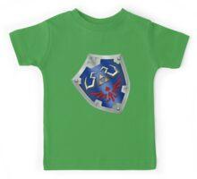 A Legend of Zelda (Left-shoulder Back) Shield Design  Kids Tee