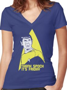 Thank Spock it's Friday Women's Fitted V-Neck T-Shirt