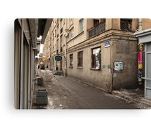 shopping street Canvas Print