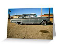 1963 Ford Fairlane, Kingman, Arizona Greeting Card