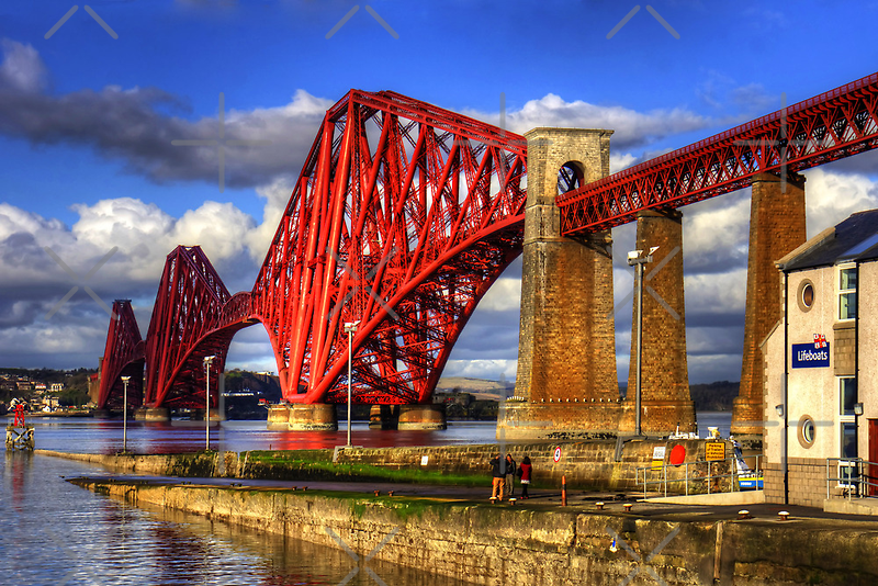 Hawes Pier Slipway and Forth Bridge by Tom Gomez