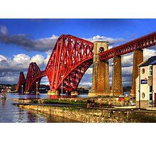 Hawes Pier Slipway and Forth Bridge Photographic Print