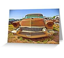 Cadillac Grill, Casa Grande, Arizona Greeting Card