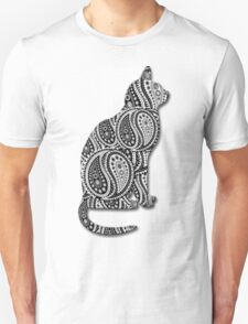 Paisley Yin Yang Cat T-Shirt