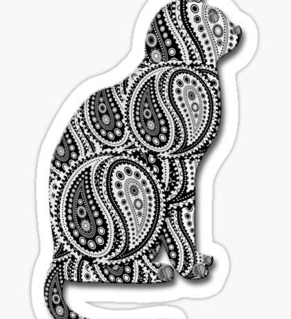 Paisley Yin Yang Cat Sticker