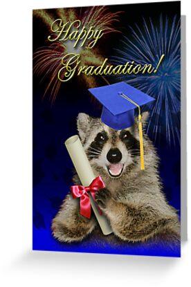 Graduation Raccoon by jkartlife