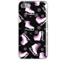 Black and Pink Ice Skating Print iPhone Case/Skin