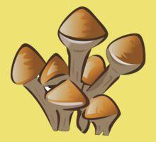 Mushroom, Toadstool, Stem - Orange Brown  Kids Clothes