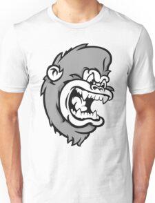 B&W Monkeying Around. Unisex T-Shirt