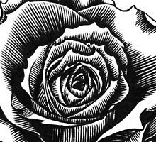 Rose Tattoo Too - Ink Drawing by Gee Massam
