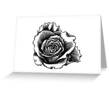 Rose Tattoo Too - Ink Drawing Greeting Card