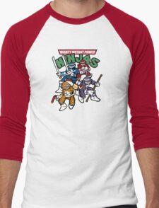 Mighty Mutant Power Ninjas! Men's Baseball ¾ T-Shirt