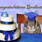 Congratulations Graduate Bunny Rabbit by jkartlife
