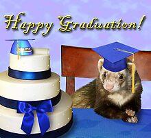 Graduation Ferret by jkartlife