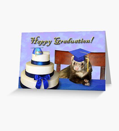 Graduation Ferret Greeting Card
