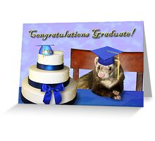 Congratulations Graduate Ferret Greeting Card