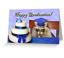 Graduation Raccoon Greeting Card