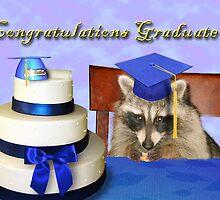 Congratulations Graduate Raccoon by jkartlife