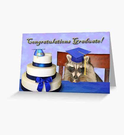 Congratulations Graduate Raccoon Greeting Card