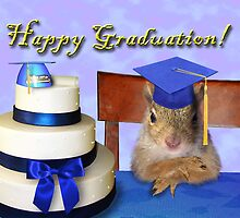 Graduation Squirrel by jkartlife