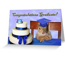 Congratulations Graduate Squirrel Greeting Card