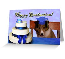 Graduation Sheltie Puppy Greeting Card