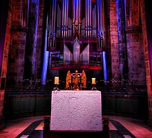 The Holy Table in St Giles' Cathedral, Edinburgh, Scotland by Den McKervey