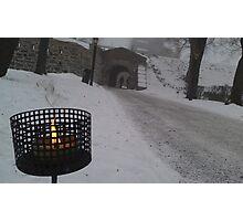Smoke and Snow Photographic Print