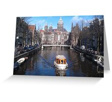 Tourist in Amsterdam Greeting Card