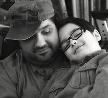 Father and son by Gisele Bedard