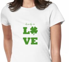 Saint Patrick's day lucky in love  Womens Fitted T-Shirt