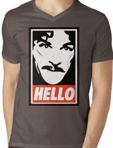 Hello... Mens V-Neck T-Shirt