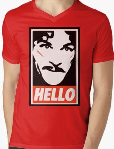 Hello... Mens V-Neck T-Shirt