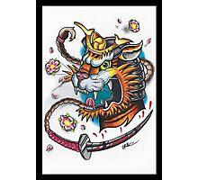 Tiger Samurai Photographic Print