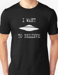X-Files - I Want To Believe (white text) T-Shirt