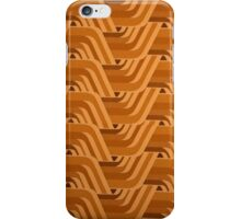 Retro Orange One iPhone Case/Skin