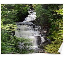 Ricketts Glen's Cascading Mohican Falls on Kitchen Creek Poster
