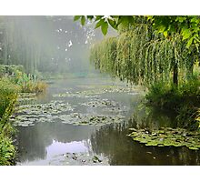 "My interpretation of Monet's ""Water-Lily Pond and Willow"". Photographic Print"