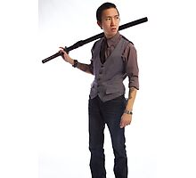 A Classy Yakuza with Samurai Sword Photographic Print
